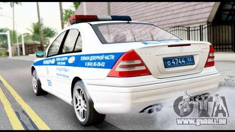 Mercedes-Benz C32 AMG ДПС pour GTA San Andreas laissé vue