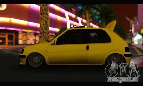 Peugeot 106 GTI pour GTA San Andreas sur la vue arrière gauche