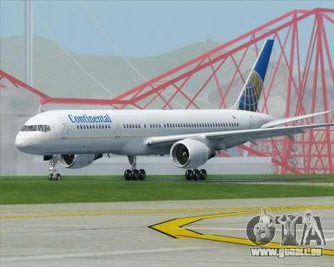 Boeing 757-200 Continental Airlines pour GTA San Andreas vue de droite