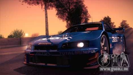 Nissan Skyline GTR-34 2003 pour GTA San Andreas laissé vue