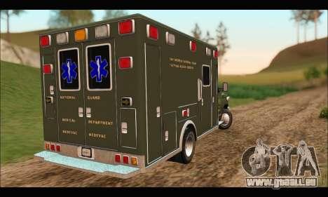Ford E450 Ambulance SANG Tactical Rescue für GTA San Andreas zurück linke Ansicht