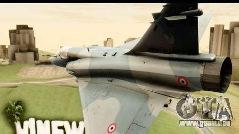 Dassault Mirage 2000-5 für GTA San Andreas Innenansicht