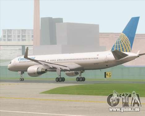 Boeing 757-200 Continental Airlines pour GTA San Andreas sur la vue arrière gauche