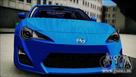 Scion FR-S pour GTA San Andreas vue arrière