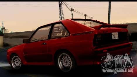 Audi Sport Quattro B2 (Typ 85Q) 1983 [IVF] pour GTA San Andreas laissé vue