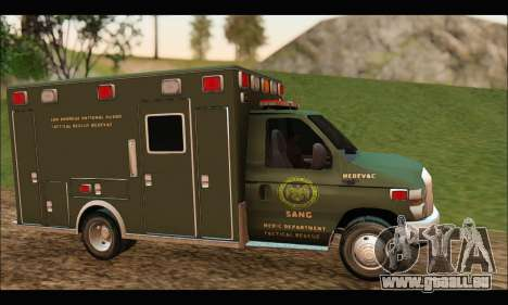 Ford E450 Ambulance SANG Tactical Rescue für GTA San Andreas linke Ansicht