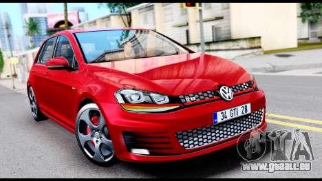 Volkswagen Golf GTI 2015 pour GTA San Andreas