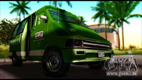Toyota Microbus für GTA San Andreas rechten Ansicht