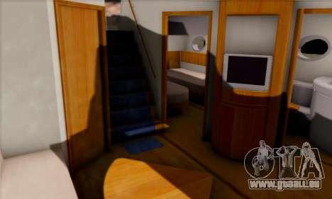 Speed Yacht für GTA San Andreas Rückansicht
