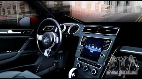 Volkswagen Golf GTI 2015 pour GTA San Andreas vue intérieure