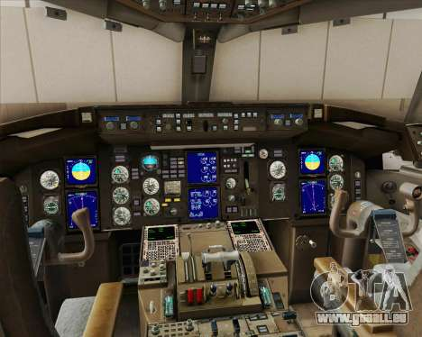 Boeing 757-200 Continental Airlines für GTA San Andreas obere Ansicht