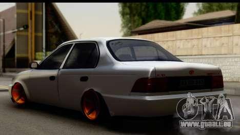 Toyota Corolla ENS Tuning pour GTA San Andreas laissé vue