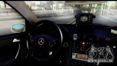 Mercedes-Benz C32 AMG ДПС für GTA San Andreas Rückansicht