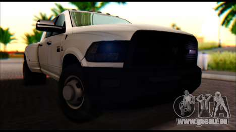 Dodge Ram 3500 Heavy Duty pour GTA San Andreas vue de droite