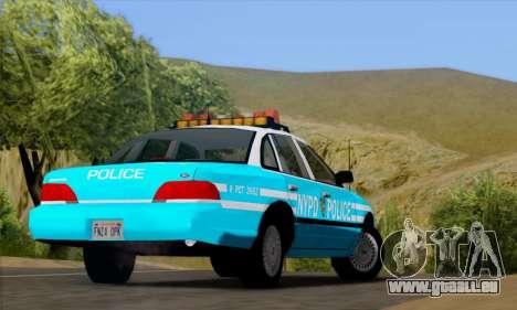 Ford Crown Victoria NYPD Blue pour GTA San Andreas vue arrière