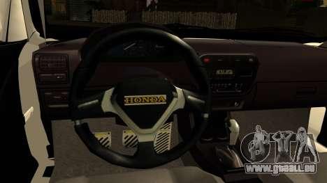 Honda Civic Park Garage pour GTA San Andreas sur la vue arrière gauche