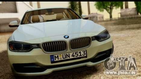 BMW 335i E92 2012 pour GTA San Andreas sur la vue arrière gauche