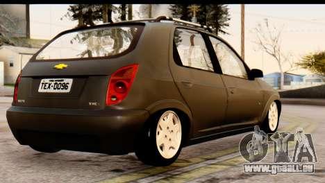 Chevrolet Celta pour GTA San Andreas laissé vue