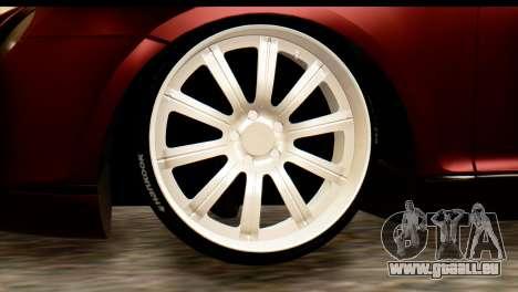 Bentley Continental VIP Stance Style pour GTA San Andreas laissé vue