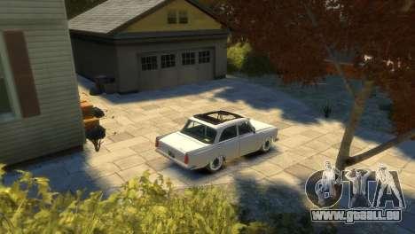 Moskvitch 412 pour GTA 4 est une vue de dessous