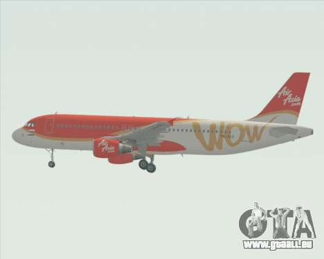 Airbus A320-200 Indonesia AirAsia WOW Livery pour GTA San Andreas vue intérieure