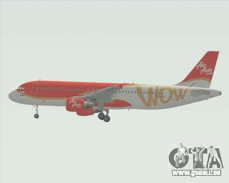 Airbus A320-200 Indonesia AirAsia WOW Livery für GTA San Andreas Innenansicht