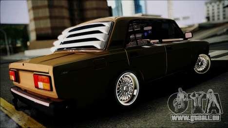 VAZ 2105 pour GTA San Andreas sur la vue arrière gauche
