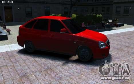 VAZ Priora 2172 pour GTA 4 Vue arrière de la gauche