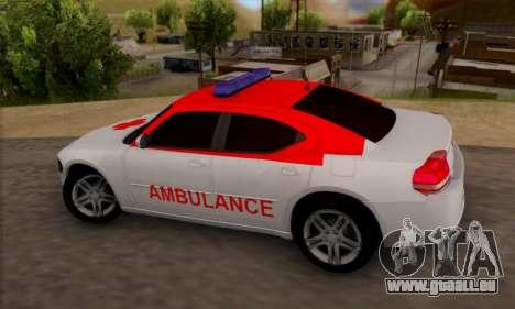 Dodgle Charger Ambulance pour GTA San Andreas laissé vue