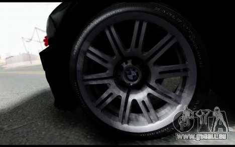BMW M3 E46 Police pour GTA San Andreas sur la vue arrière gauche