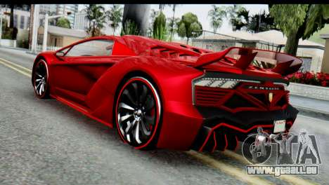 GTA 5 Pegassi Zentorno pour GTA San Andreas laissé vue