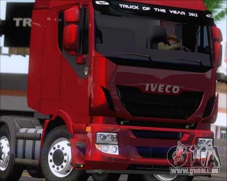 Iveco Stralis HiWay 8x4 pour GTA San Andreas vue de côté