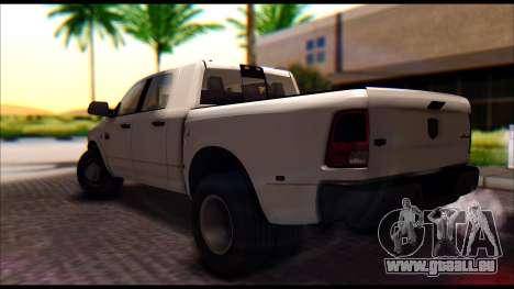 Dodge Ram 3500 Heavy Duty pour GTA San Andreas laissé vue