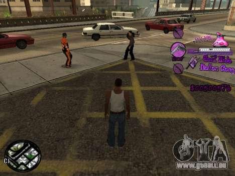 C-HUD Ballas für GTA San Andreas