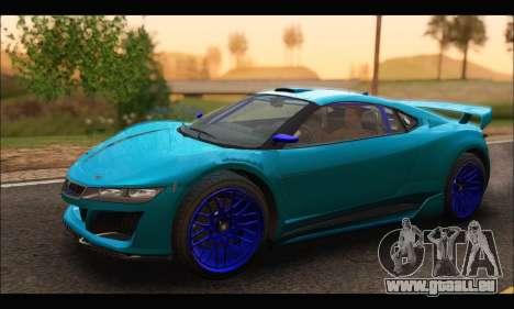 Dinka Jester Racecar (GTA V) (SA Mobile) für GTA San Andreas linke Ansicht