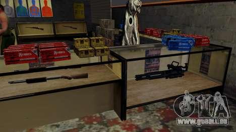 Les modèles 3D des armes dans l'Ammu-nation pour GTA San Andreas onzième écran