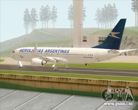 Boeing 737-800 Aerolineas Argentinas für GTA San Andreas rechten Ansicht