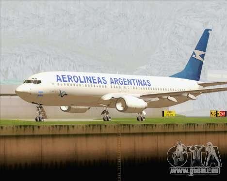 Boeing 737-800 Aerolineas Argentinas pour GTA San Andreas laissé vue