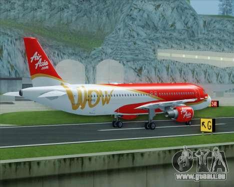 Airbus A320-200 Indonesia AirAsia WOW Livery pour GTA San Andreas vue de côté