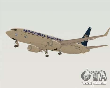 Boeing 737-800 Aerolineas Argentinas pour GTA San Andreas vue arrière