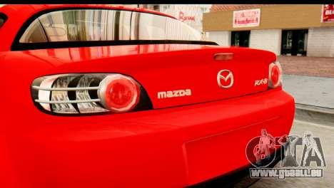 Mazda RX-8 2005 pour GTA San Andreas vue de droite