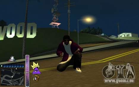C-HUD Lite SWAG pour GTA San Andreas deuxième écran