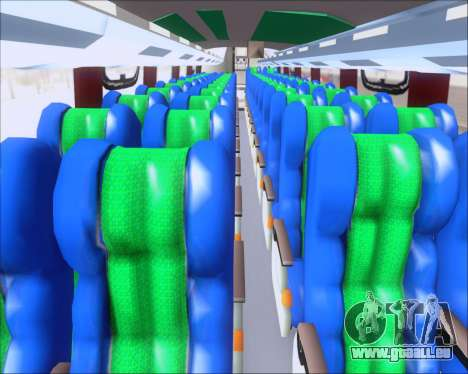Busscar Vissta Buss LO Palmeiras pour GTA San Andreas vue intérieure