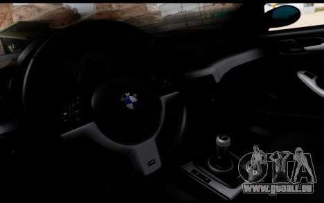BMW M3 E46 Police pour GTA San Andreas vue de droite