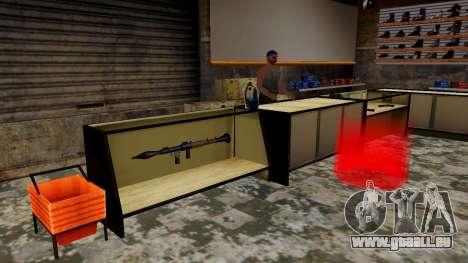Les modèles 3D des armes dans l'Ammu-nation pour GTA San Andreas cinquième écran