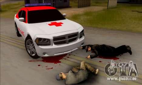 Dodgle Charger Ambulance pour GTA San Andreas sur la vue arrière gauche