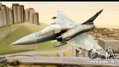 Dassault Mirage 2000-5 für GTA San Andreas Rückansicht