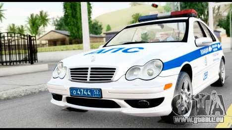 Mercedes-Benz C32 AMG ДПС pour GTA San Andreas