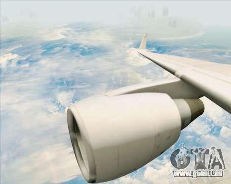 Boeing 757-200 Continental Airlines pour GTA San Andreas vue de dessous