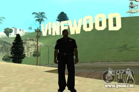 Black Police All für GTA San Andreas her Screenshot